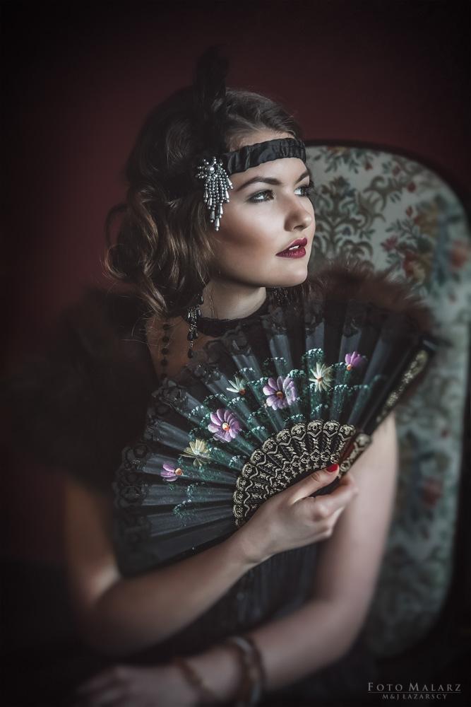 Jej Portret Foto Malarz Portret Damy