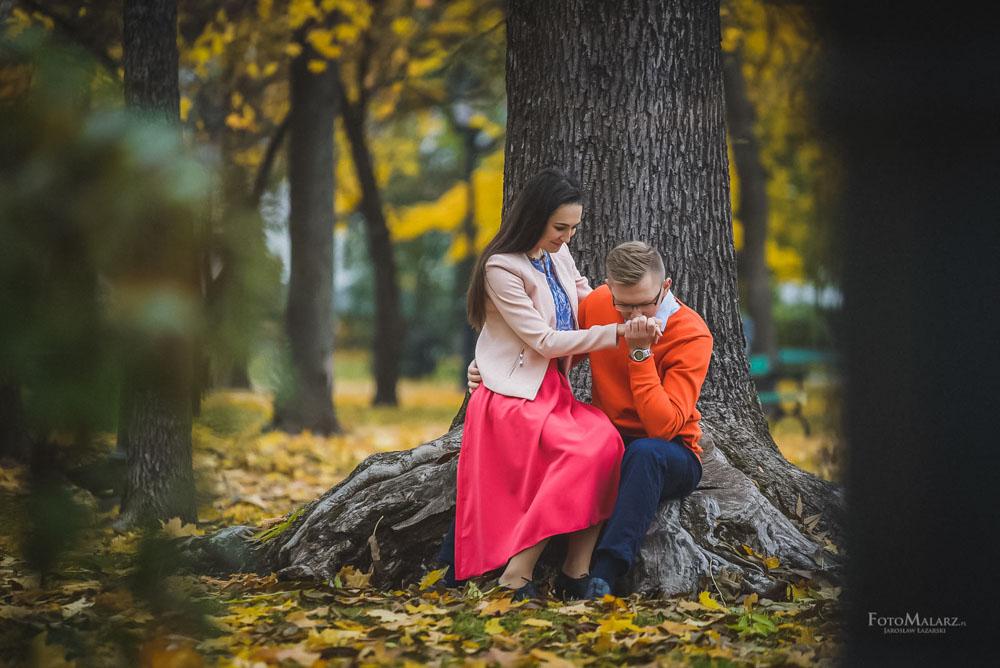 Sesja narzeczenska w barwach jesieni Foto Malarz 15