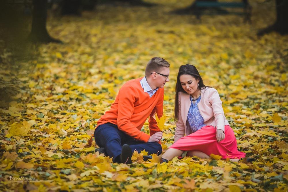 Sesja narzeczenska w barwach jesieni Foto Malarz 19