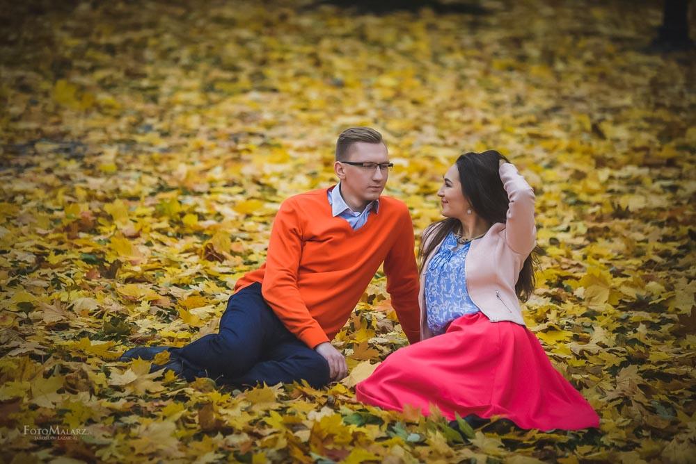 Sesja narzeczenska w barwach jesieni Foto Malarz 22