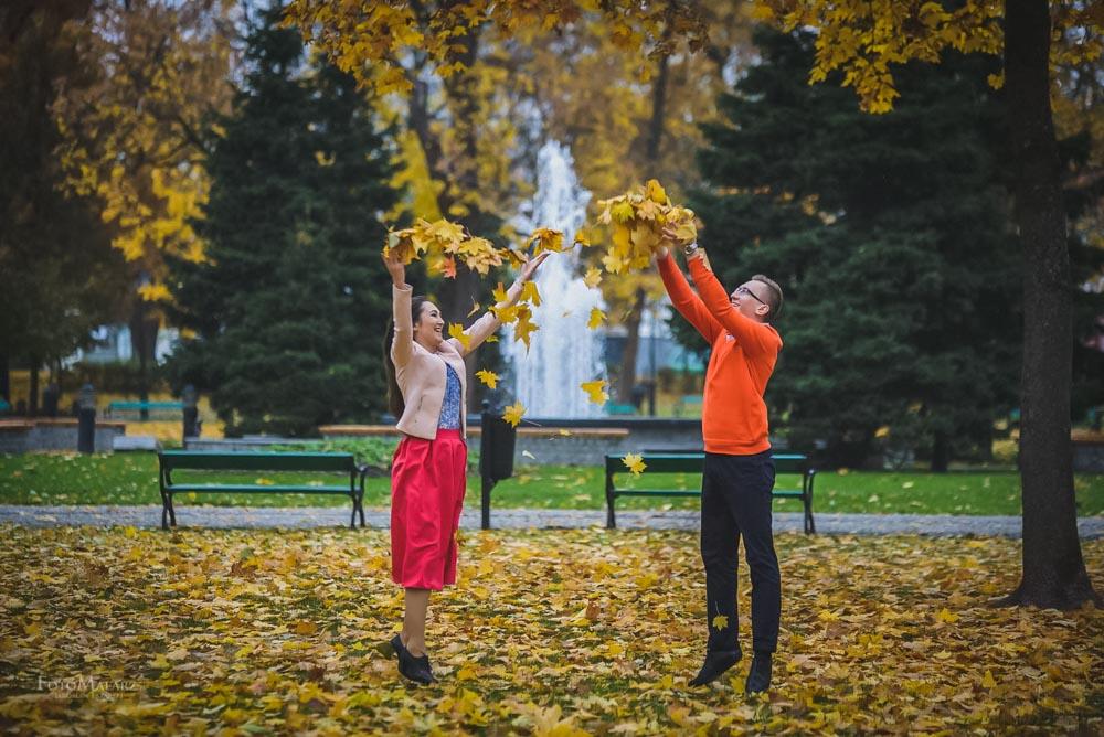 Sesja narzeczenska w barwach jesieni Foto Malarz 24