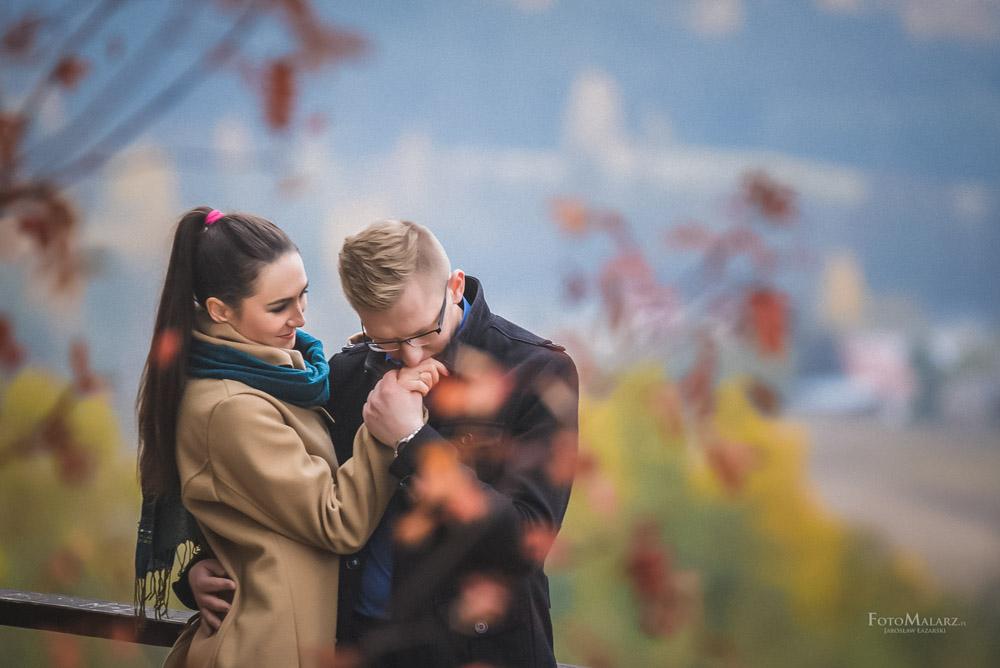 Sesja narzeczenska w barwach jesieni Foto Malarz 41